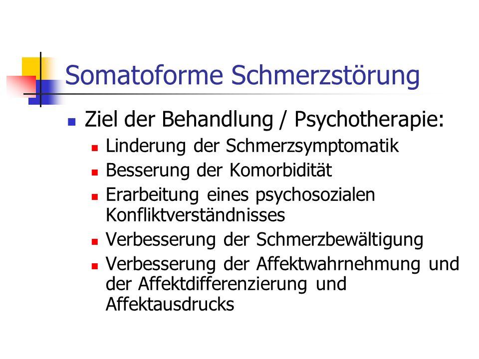 Somatoforme Schmerzstörung