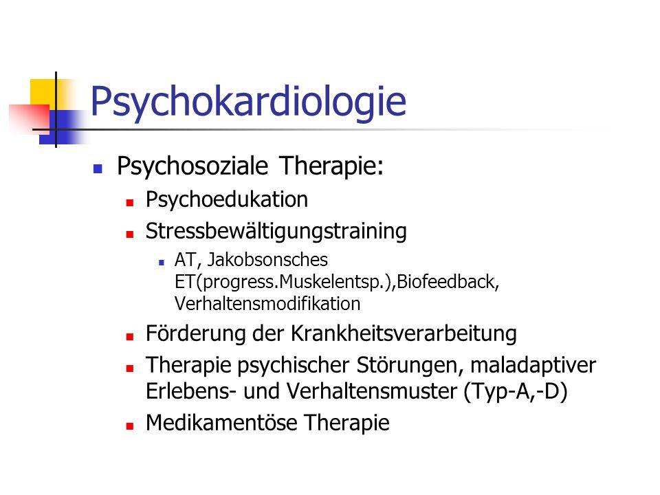 Psychokardiologie Psychosoziale Therapie: Psychoedukation