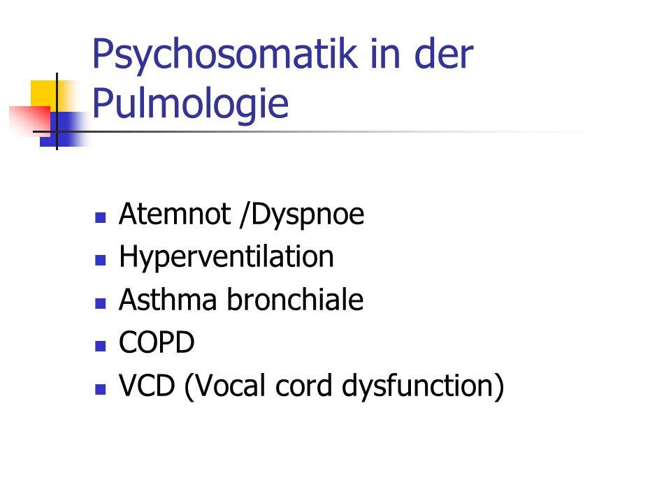 Psychosomatik in der Pulmologie