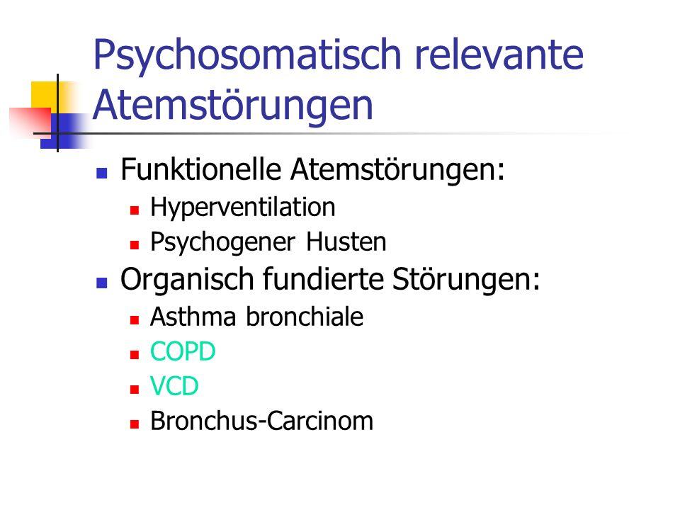 Psychosomatisch relevante Atemstörungen