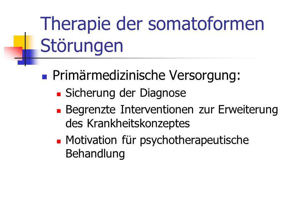 Therapie der somatoformen Störungen