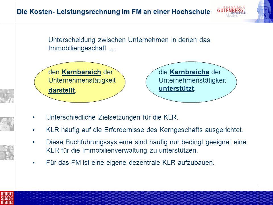 Die Kosten- Leistungsrechnung im FM an einer Hochschule