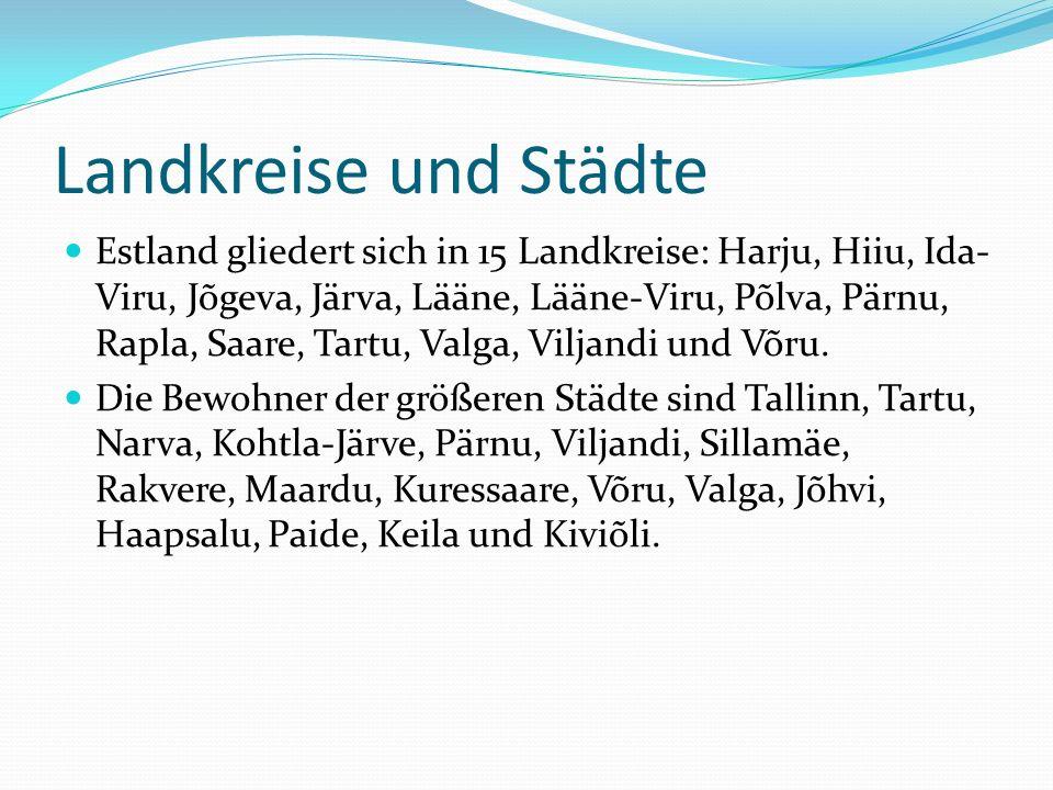 Landkreise und Städte