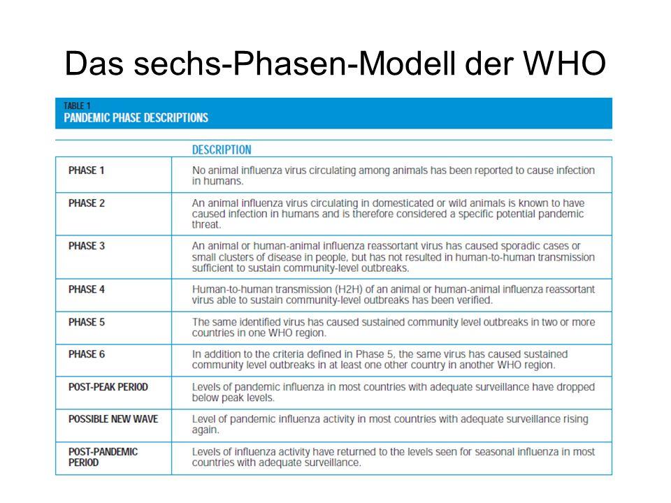 Das sechs-Phasen-Modell der WHO