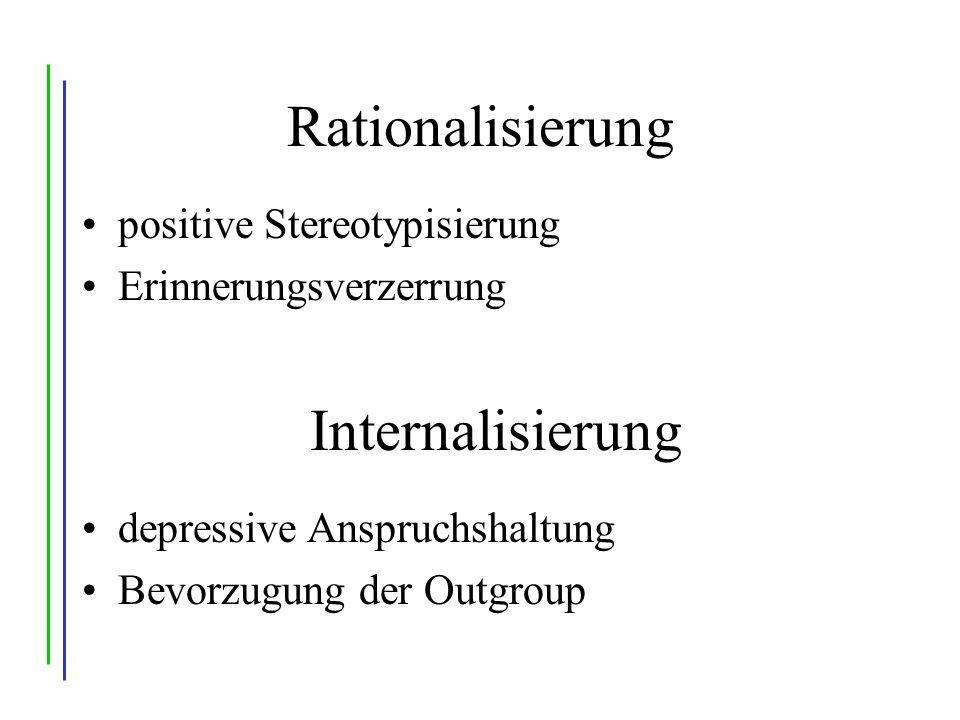 Rationalisierung Internalisierung positive Stereotypisierung