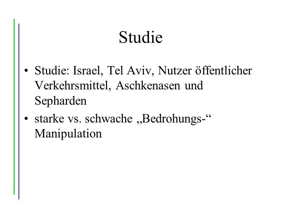 Studie Studie: Israel, Tel Aviv, Nutzer öffentlicher Verkehrsmittel, Aschkenasen und Sepharden.