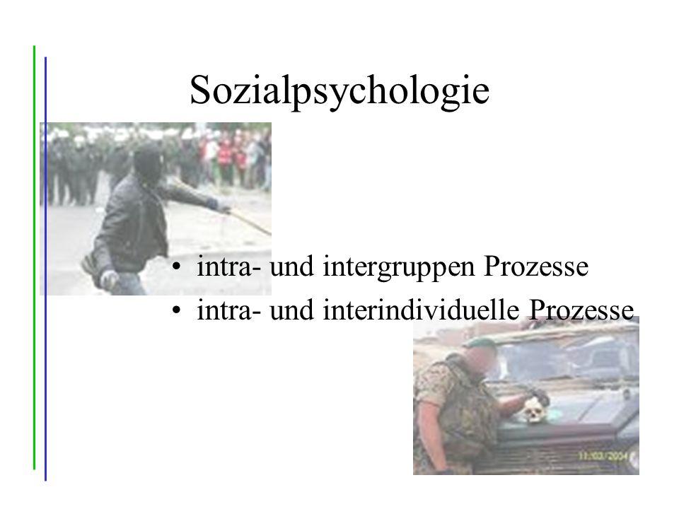 Sozialpsychologie intra- und intergruppen Prozesse