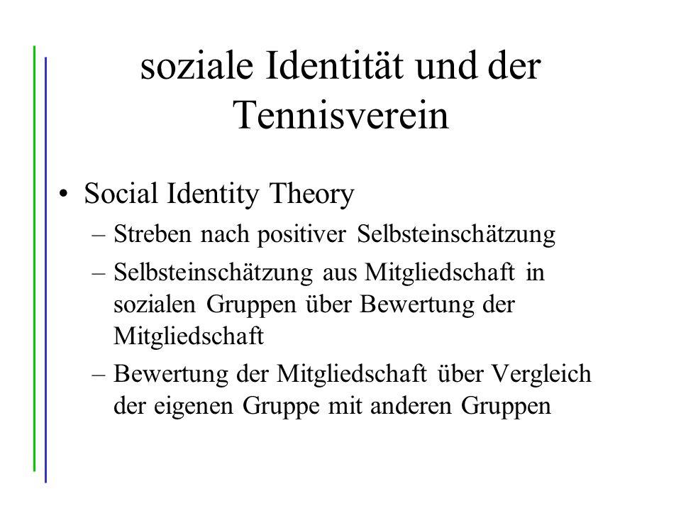 soziale Identität und der Tennisverein