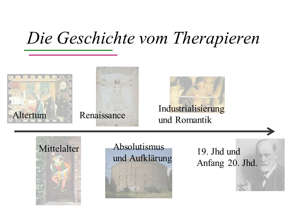 Die Geschichte vom Therapieren