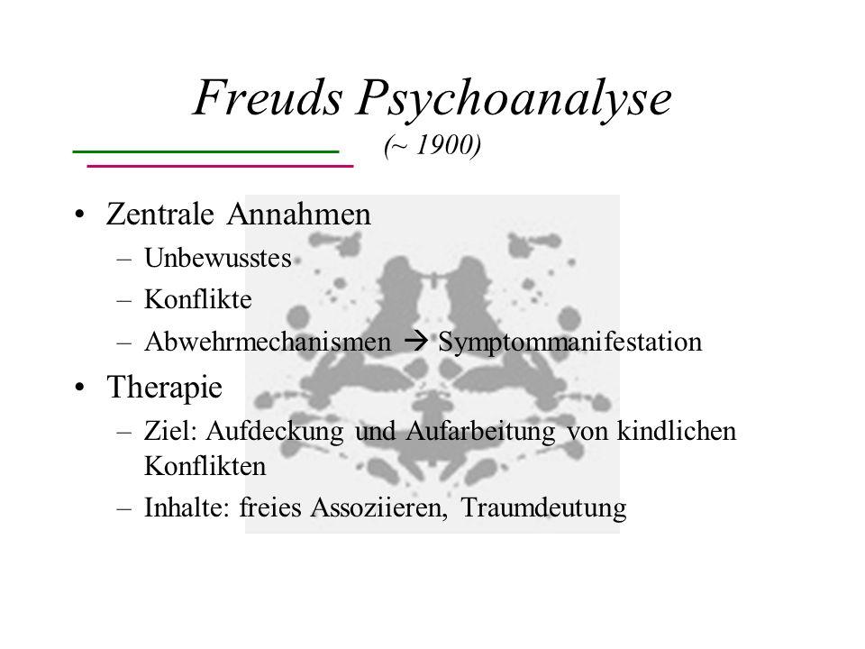 Freuds Psychoanalyse (~ 1900)