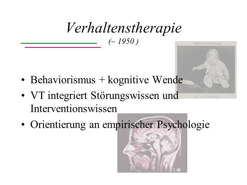 Verhaltenstherapie (~ 1950 )