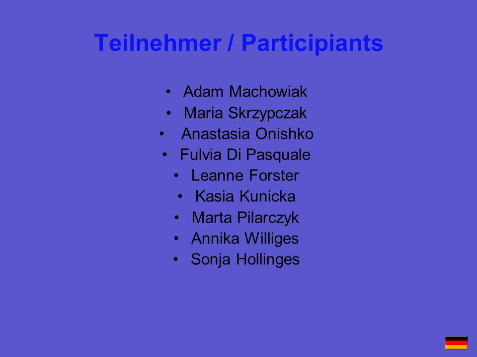 Teilnehmer / Participiants