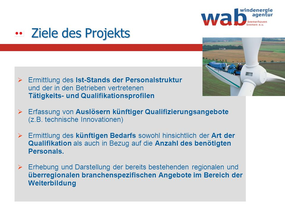 Ziele des Projekts