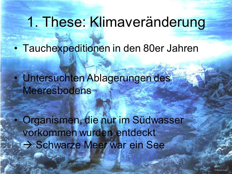 1. These: Klimaveränderung