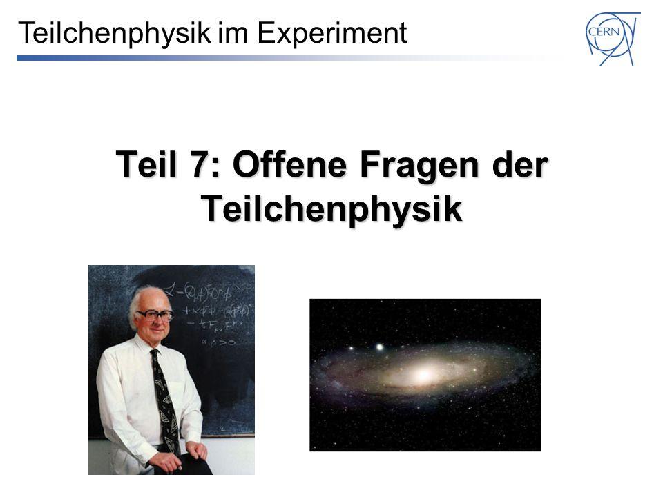 Teil 7: Offene Fragen der Teilchenphysik