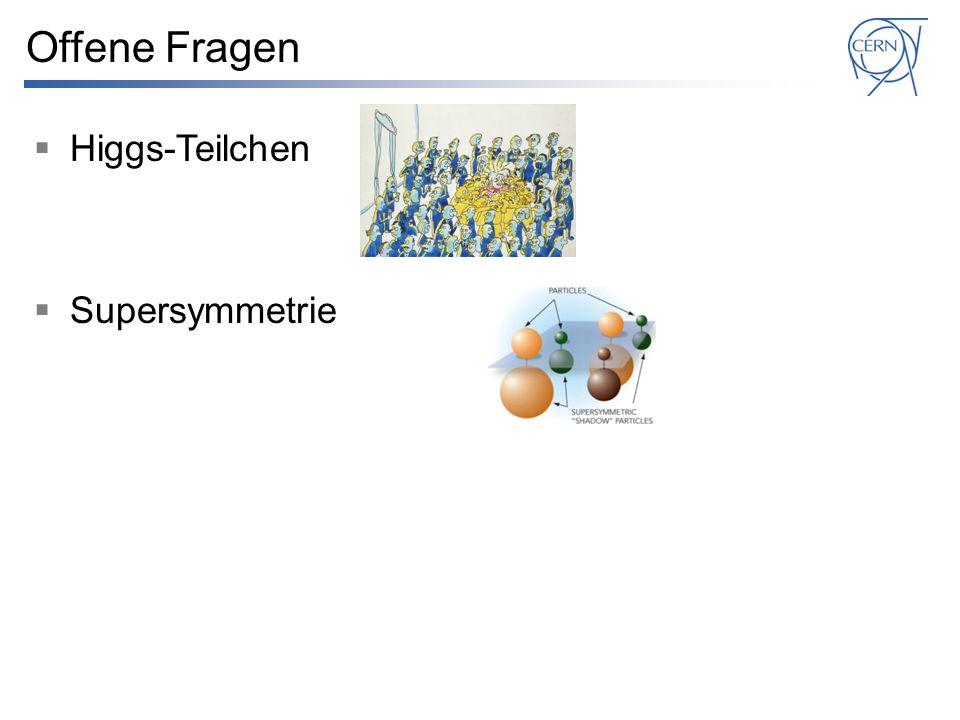 Offene Fragen Higgs-Teilchen Supersymmetrie