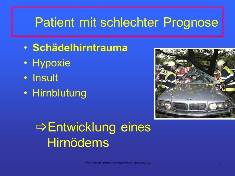 Patient mit schlechter Prognose