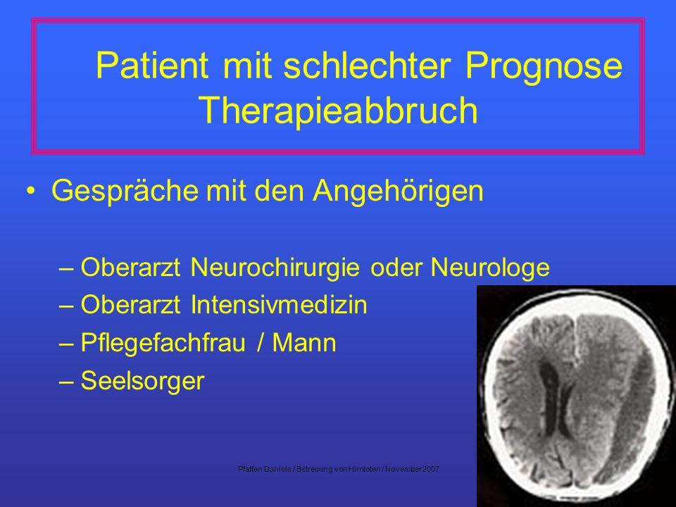 Patient mit schlechter Prognose Therapieabbruch