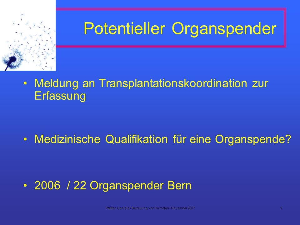 Potentieller Organspender