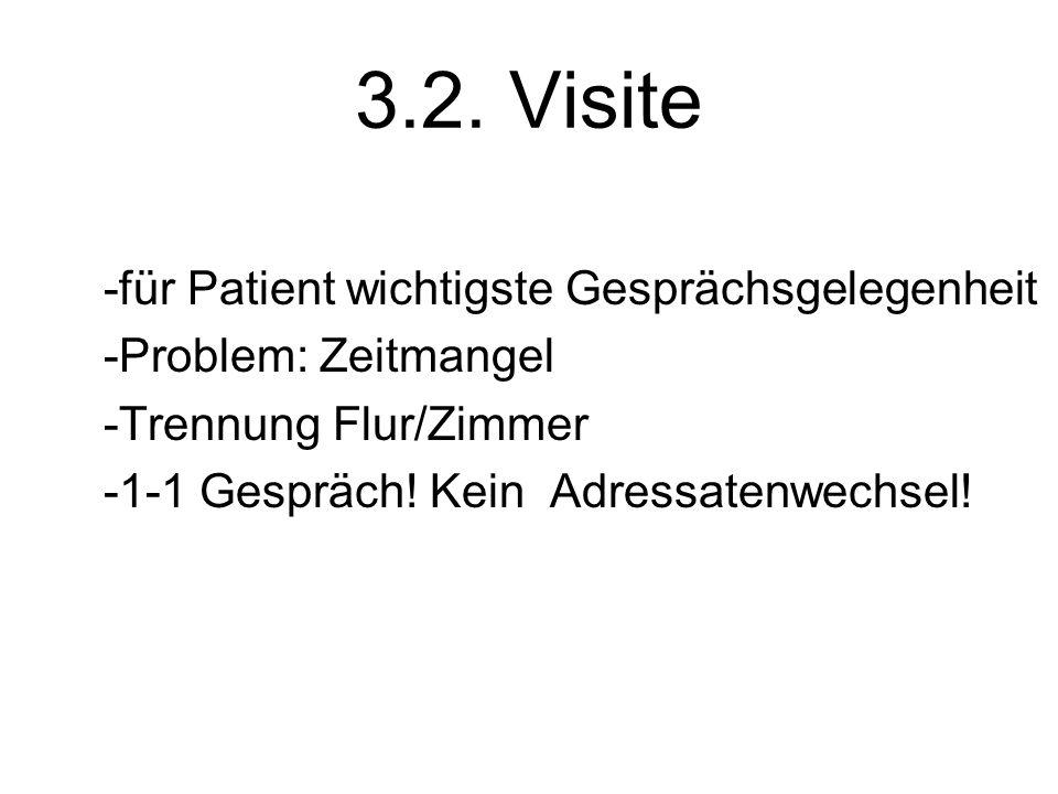 3.2. Visite -für Patient wichtigste Gesprächsgelegenheit