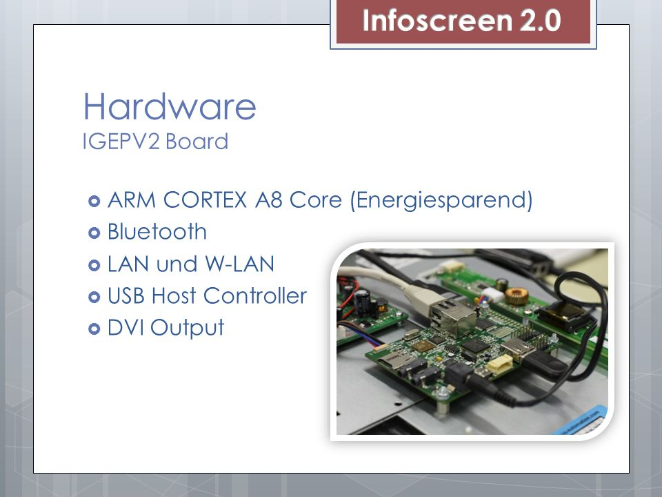 Hardware IGEPV2 Board Infoscreen 2.0