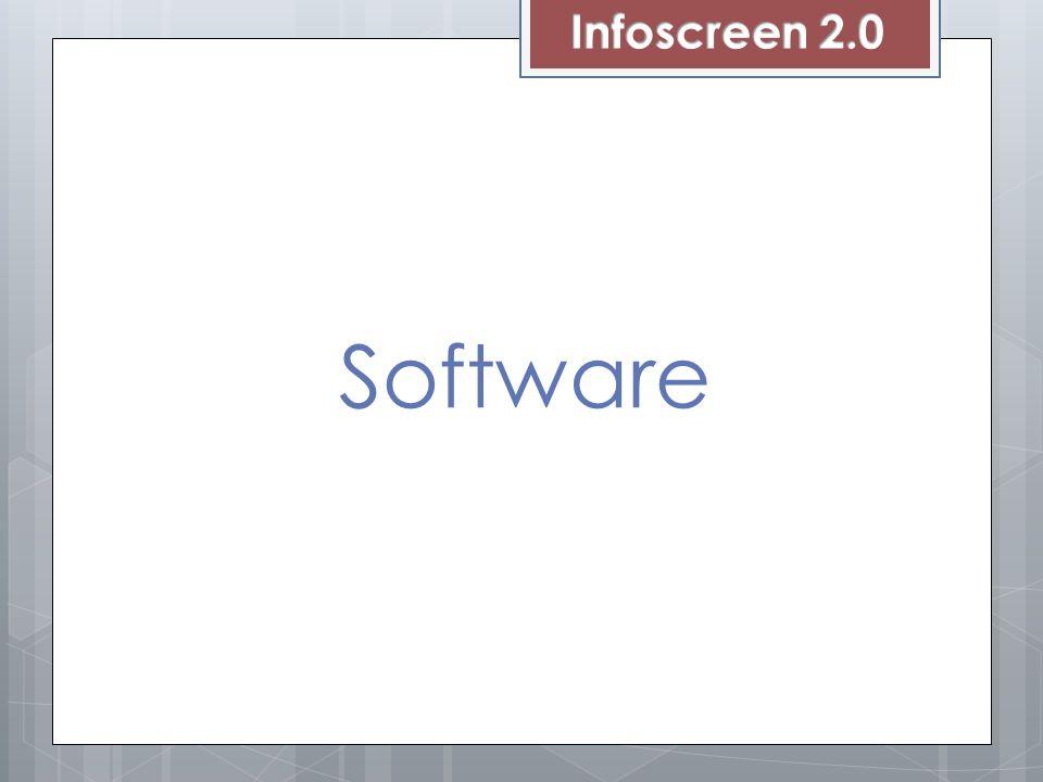 Infoscreen 2.0 Software