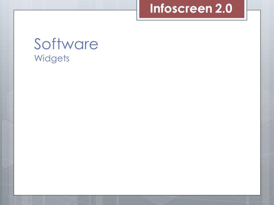 Infoscreen 2.0 Software Widgets Wird oft verwendet (weit verbreitet)
