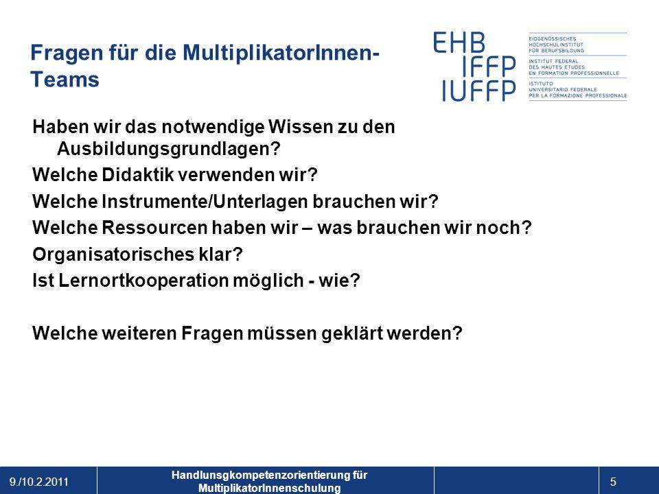Fragen für die MultiplikatorInnen- Teams