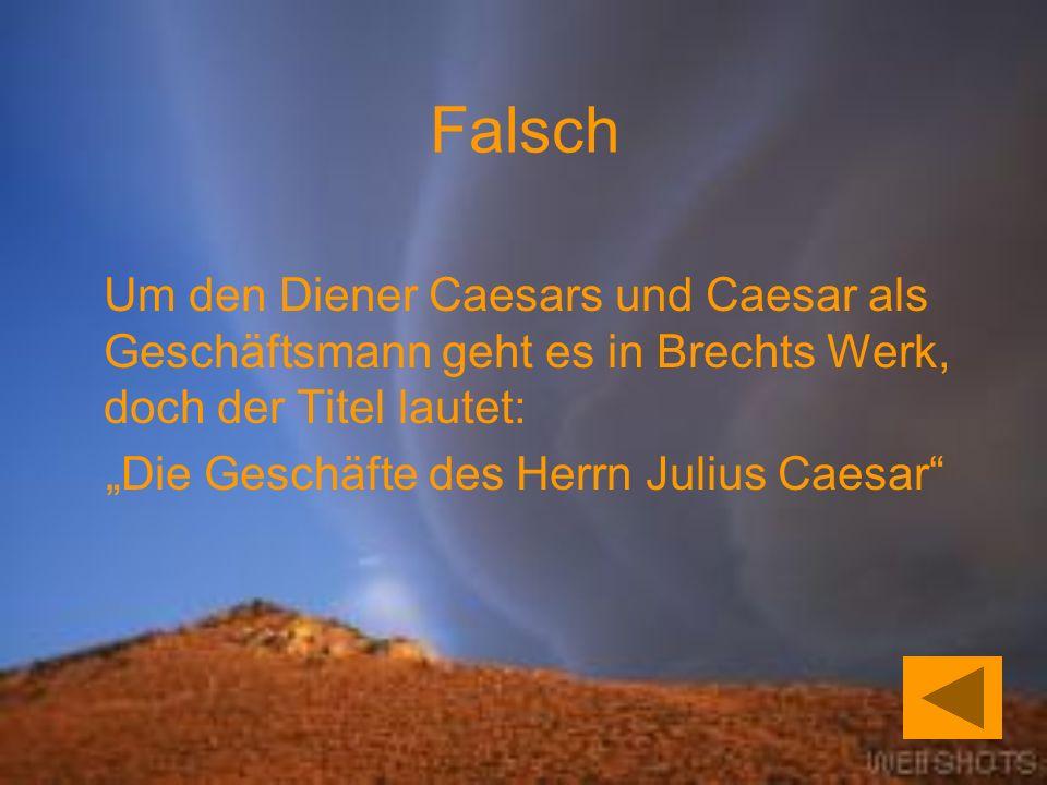 """""""Die Geschäfte des Herrn Julius Caesar"""