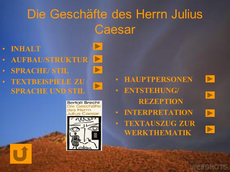 Die Geschäfte des Herrn Julius Caesar