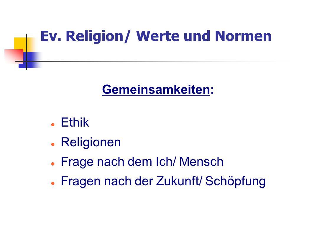 Ev. Religion/ Werte und Normen