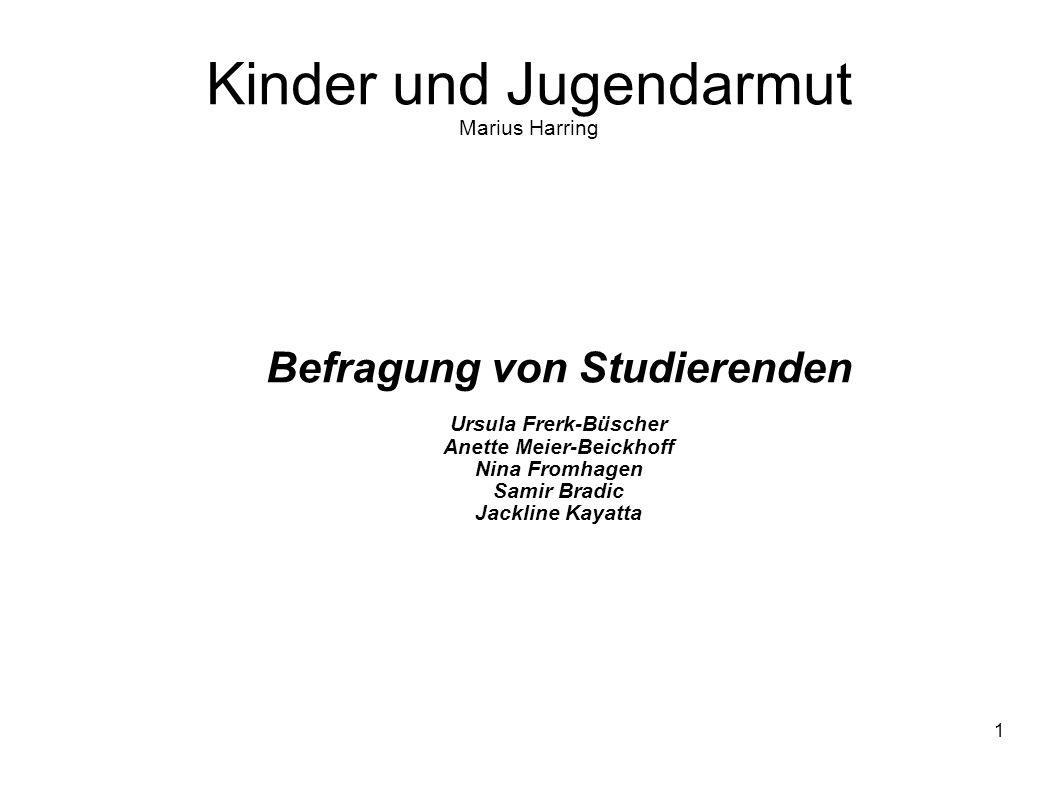 Kinder und Jugendarmut Marius Harring