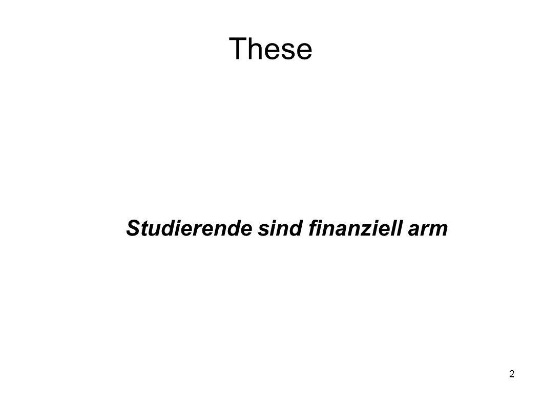 Studierende sind finanziell arm