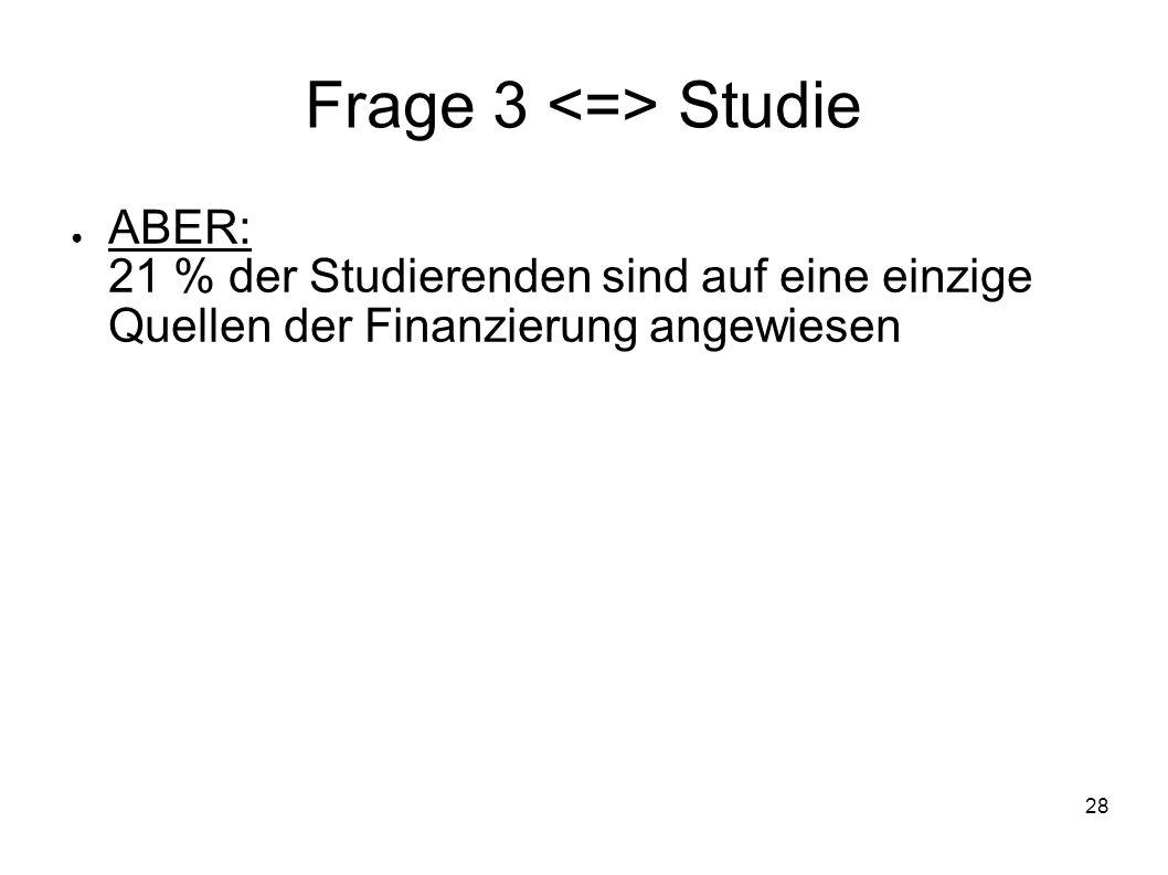 Frage 3 <=> Studie