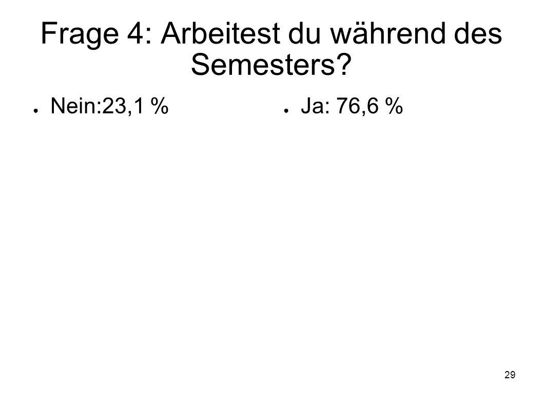 Frage 4: Arbeitest du während des Semesters