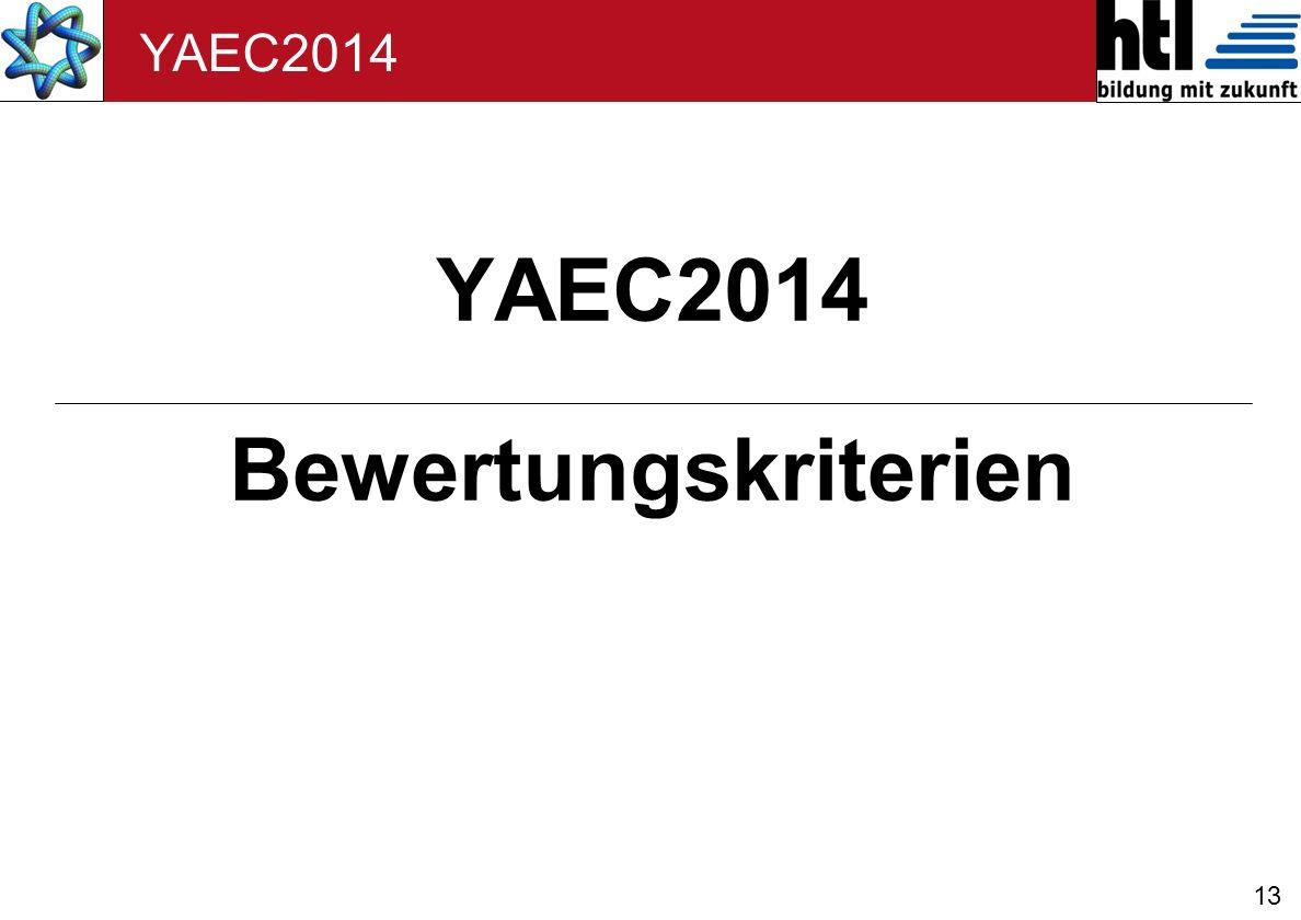 YAEC2014 Bewertungskriterien