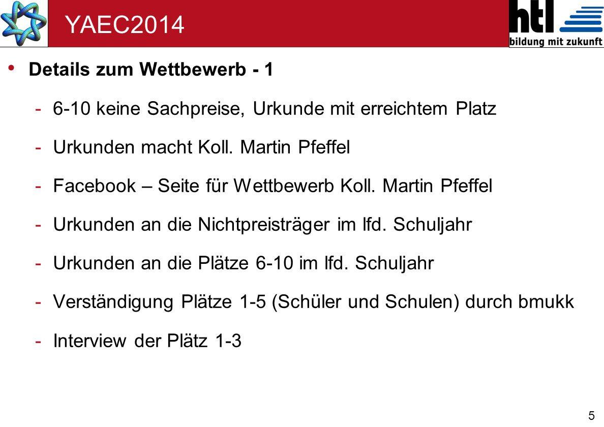 YAEC2014 Details zum Wettbewerb - 1