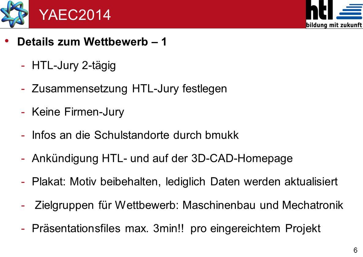 YAEC2014 Details zum Wettbewerb – 1 HTL-Jury 2-tägig