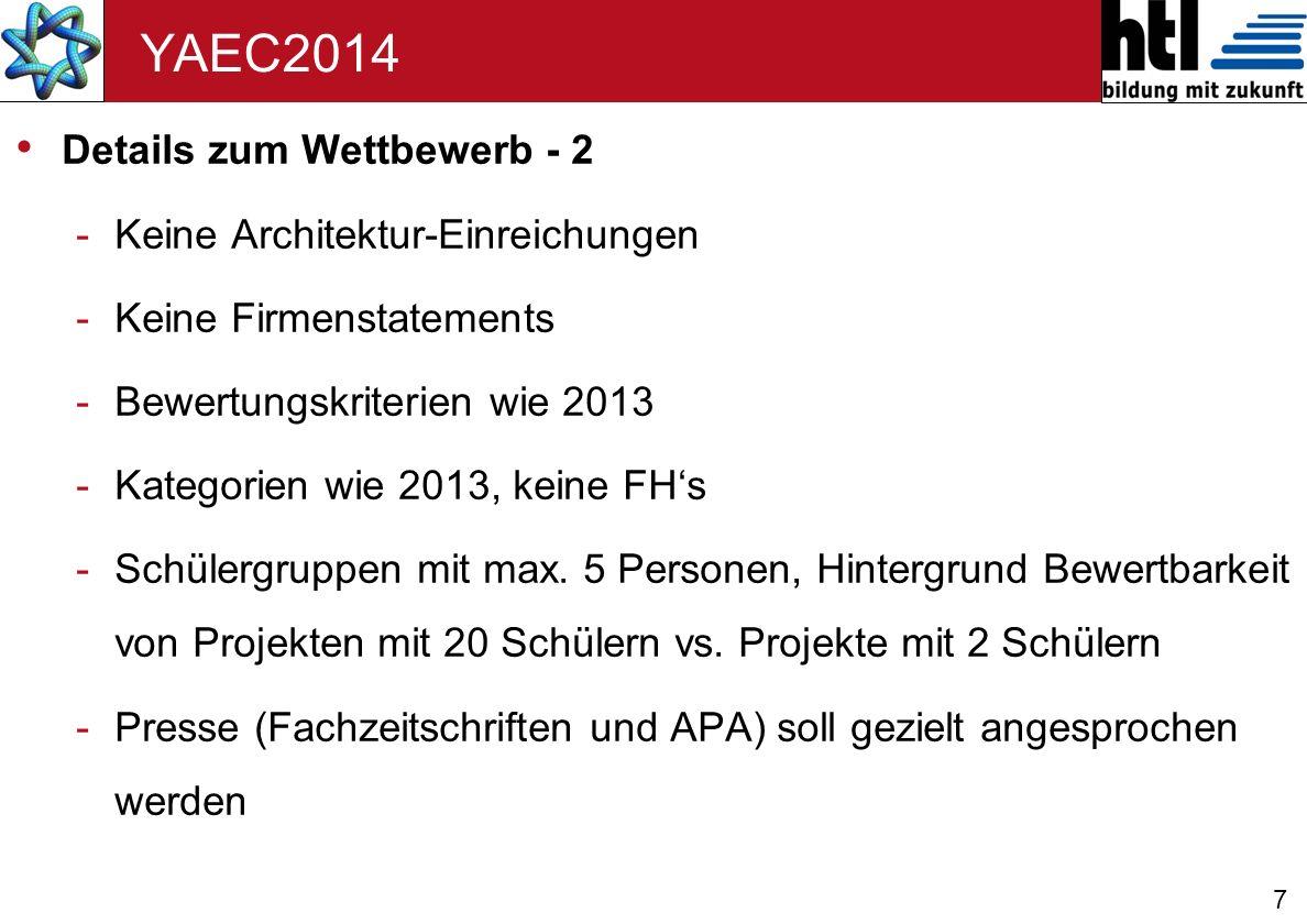 YAEC2014 Details zum Wettbewerb - 2 Keine Architektur-Einreichungen