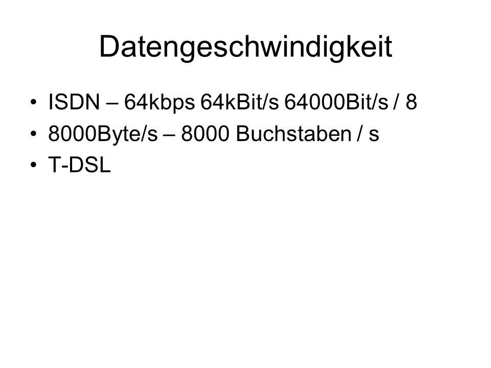 Datengeschwindigkeit