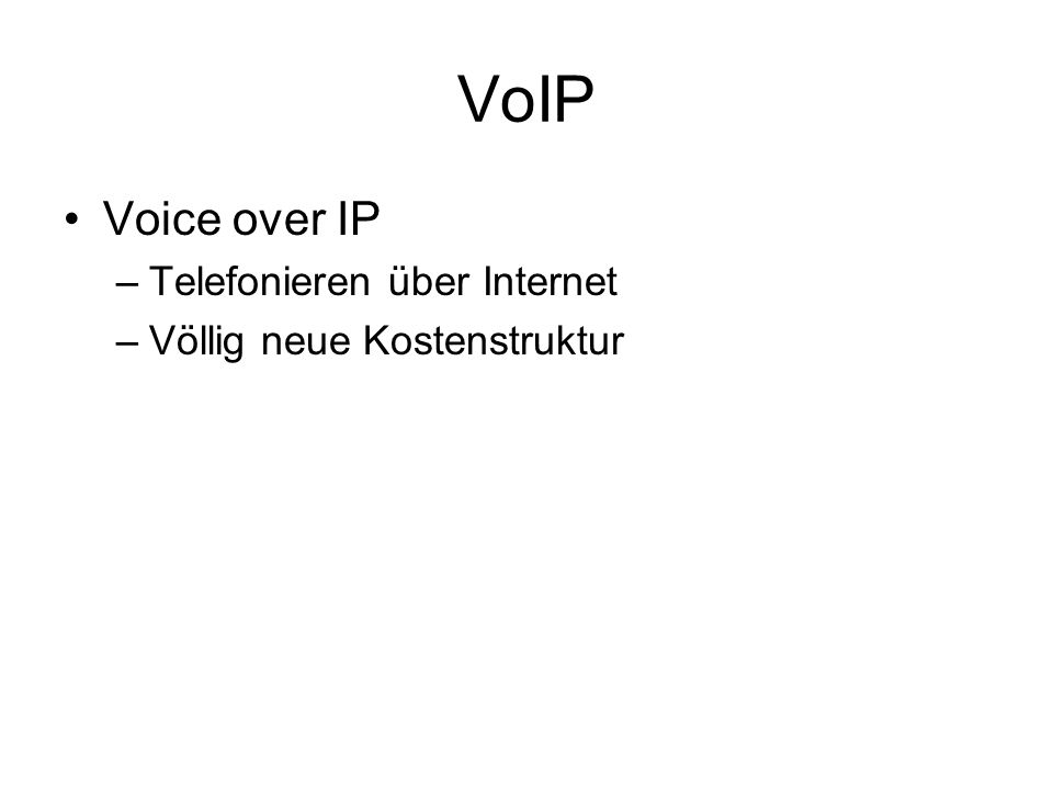 VoIP Voice over IP Telefonieren über Internet