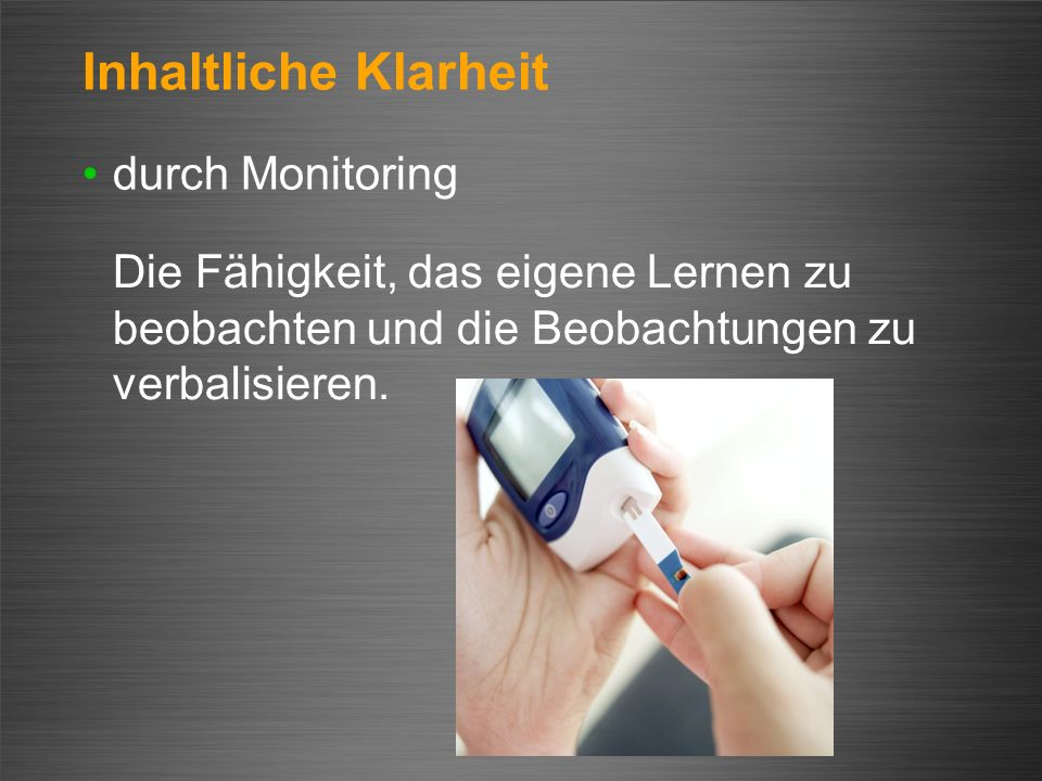 Inhaltliche Klarheit durch Monitoring