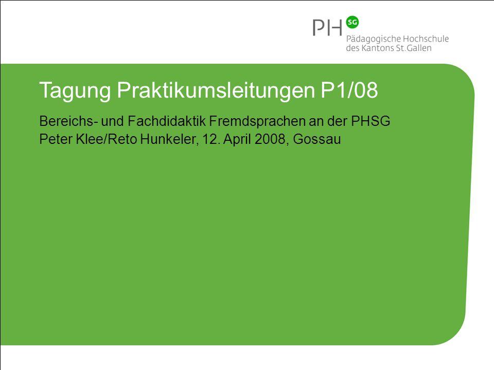 Tagung Praktikumsleitungen P1/08