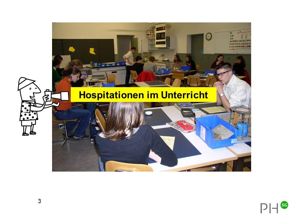 Hospitationen im Unterricht