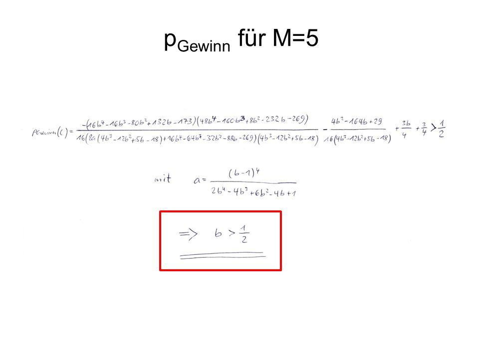 pGewinn für M=5