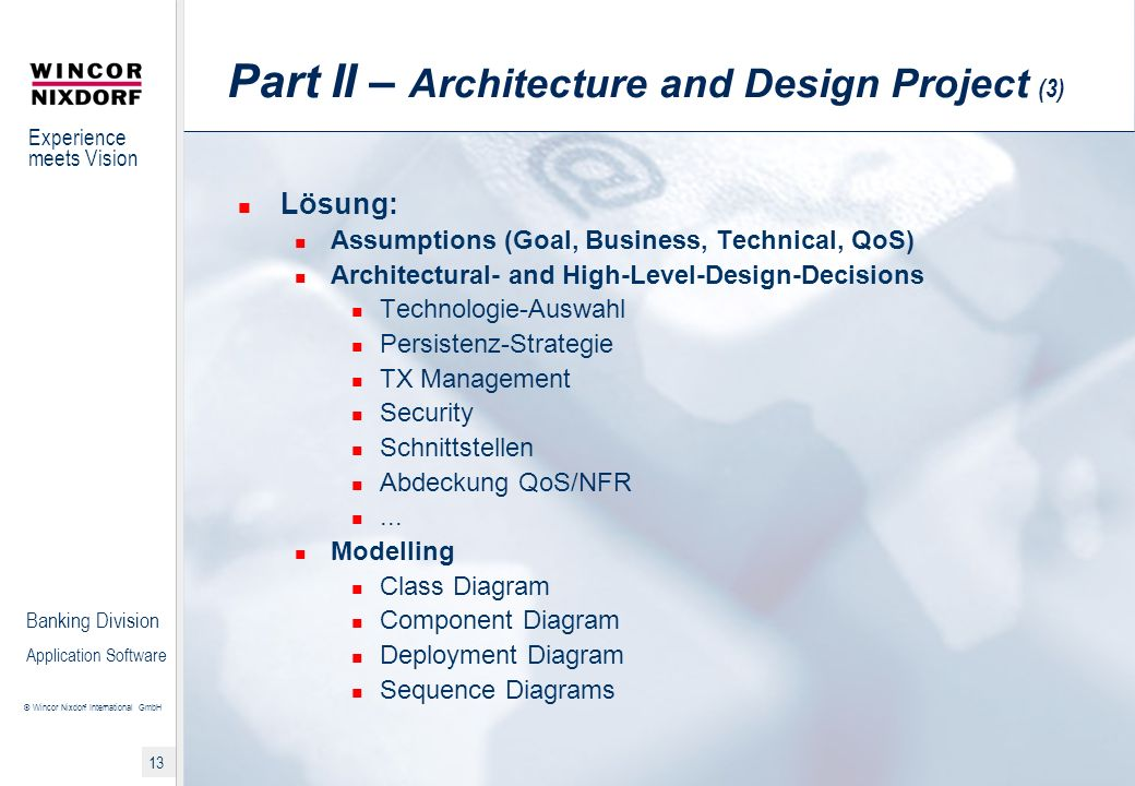 Part II – Architecture and Design Project (3)