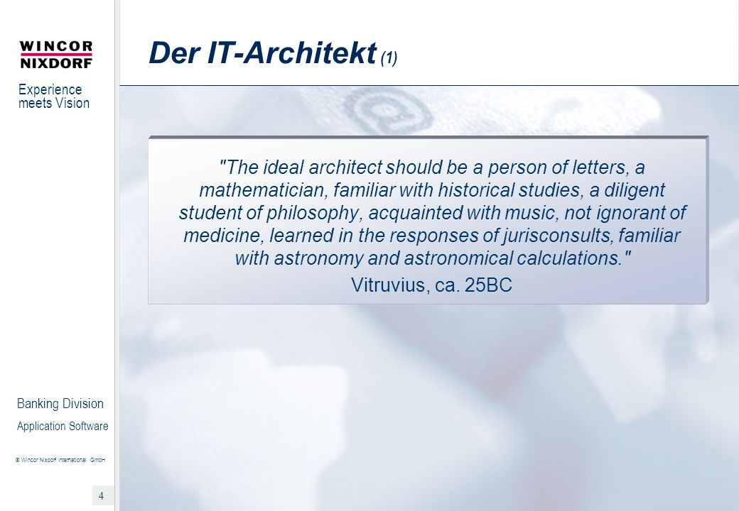 Der IT-Architekt (1)