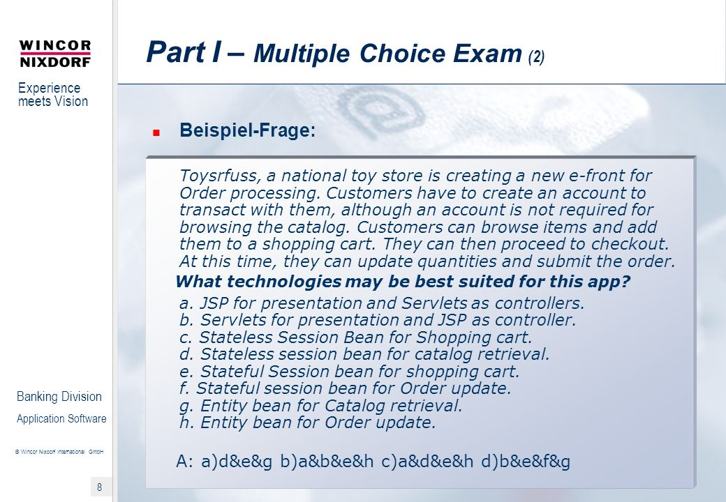 Part I – Multiple Choice Exam (2)