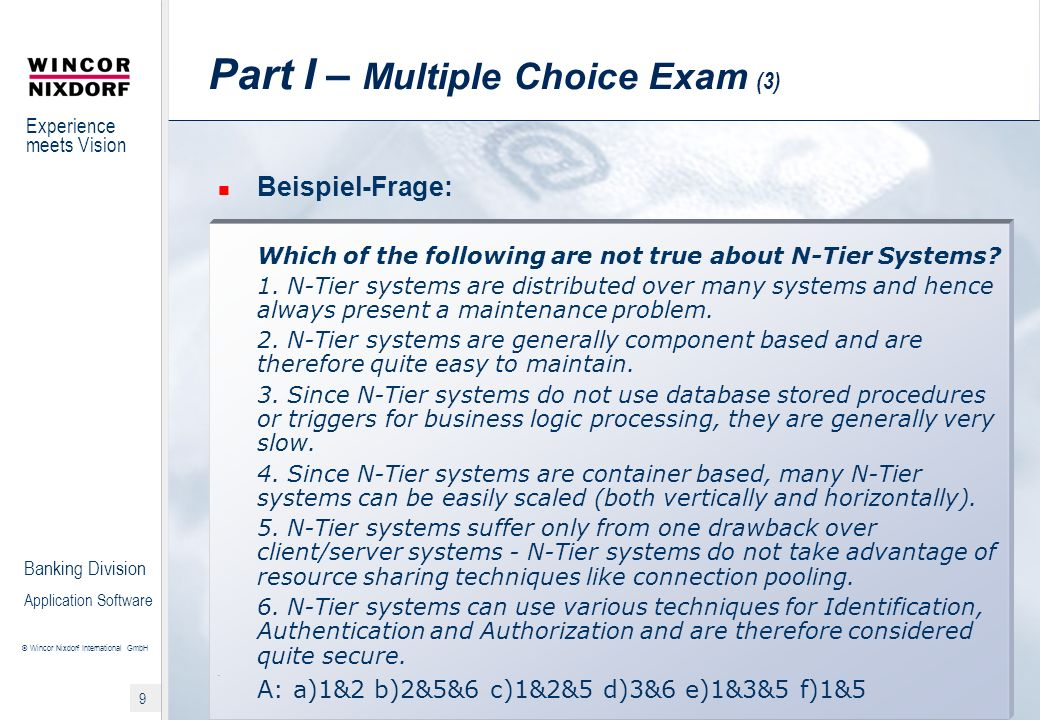 Part I – Multiple Choice Exam (3)