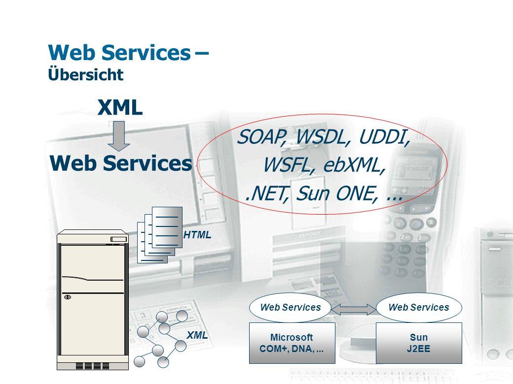 Web Services – Übersicht